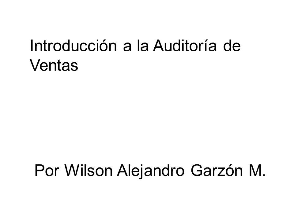 Introducción a la Auditoría de Ventas