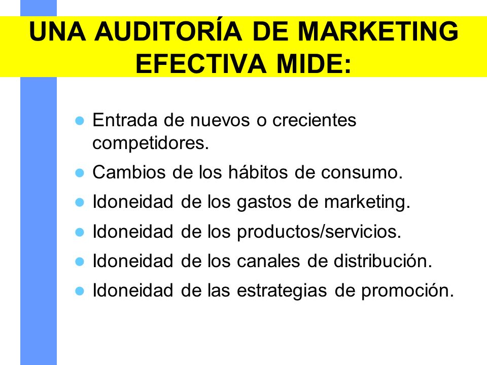 UNA AUDITORÍA DE MARKETING EFECTIVA MIDE: