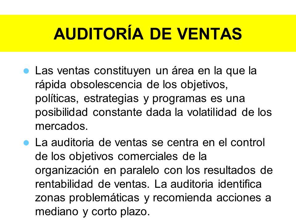AUDITORÍA DE VENTAS