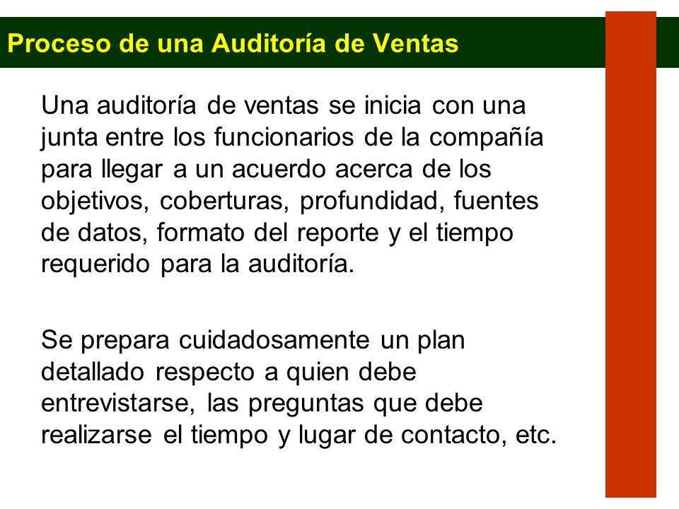 Proceso de una Auditoría de Ventas
