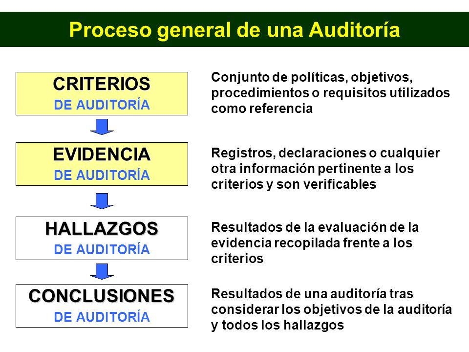 Proceso general de una Auditoría