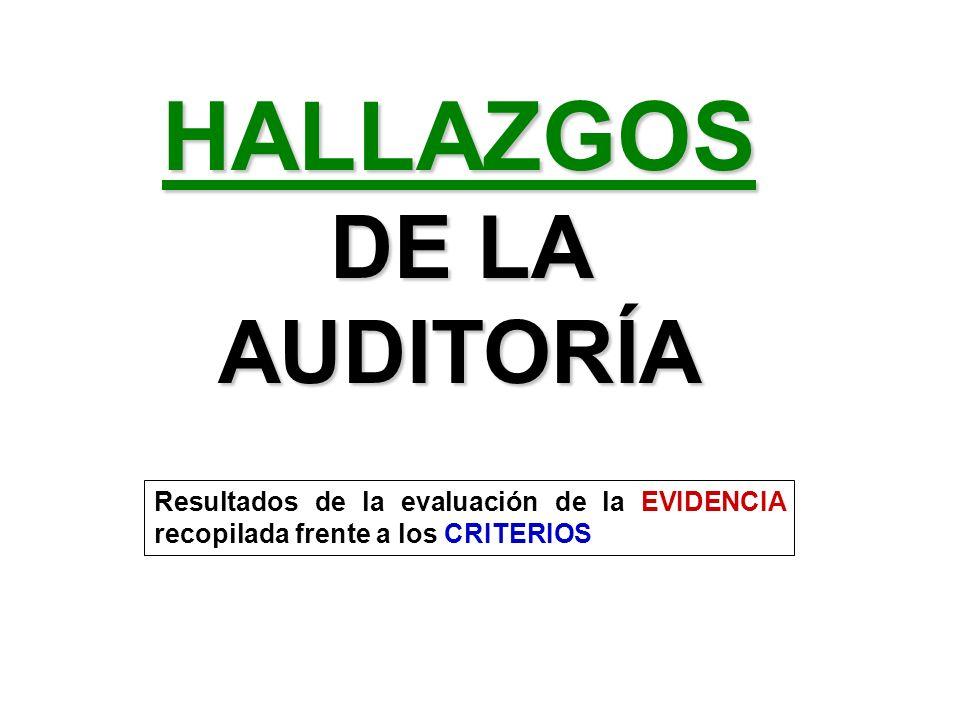 HALLAZGOS DE LA AUDITORÍA