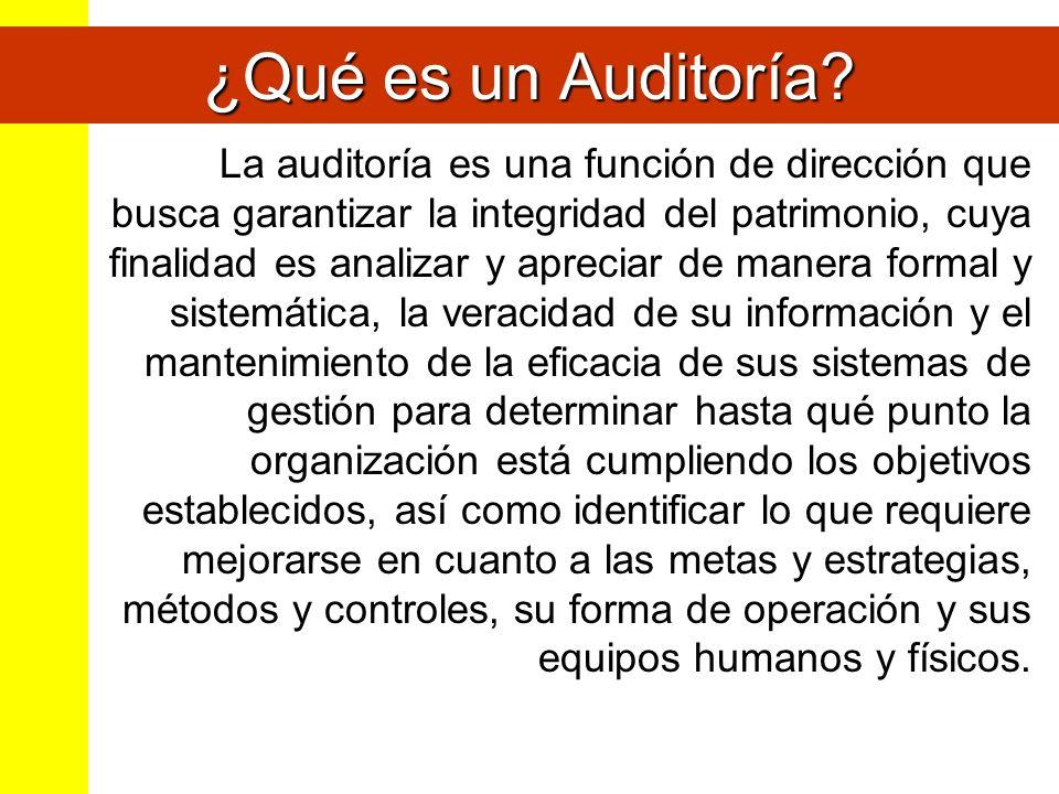 ¿Qué es un Auditoría