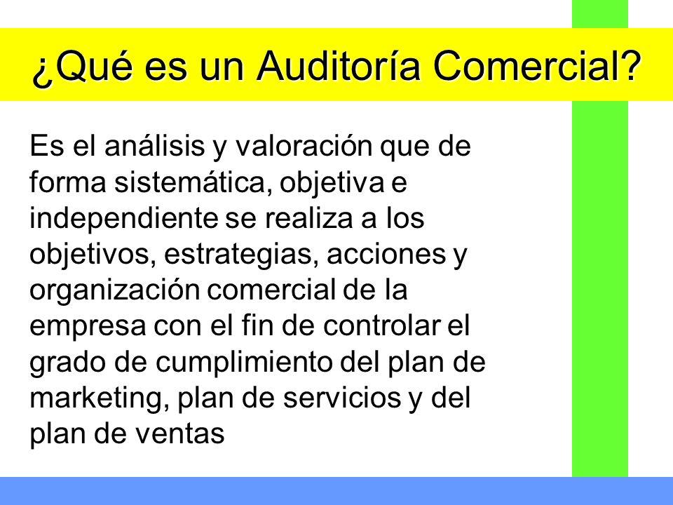 ¿Qué es un Auditoría Comercial
