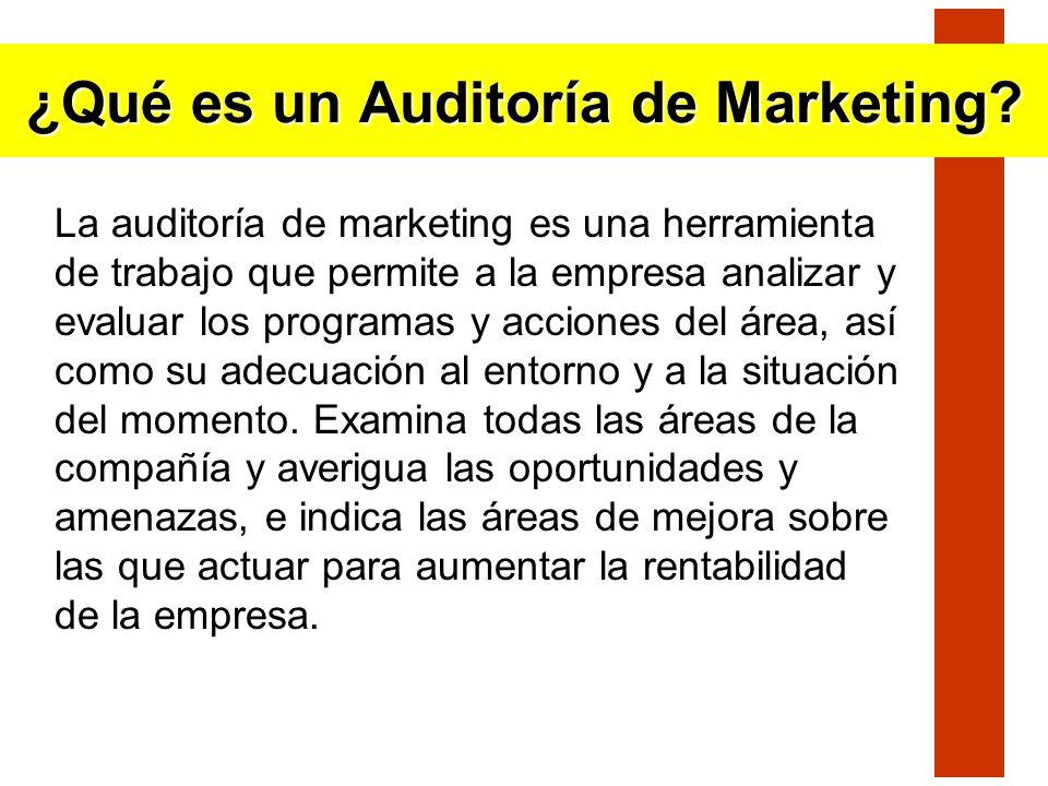 ¿Qué es un Auditoría de Marketing