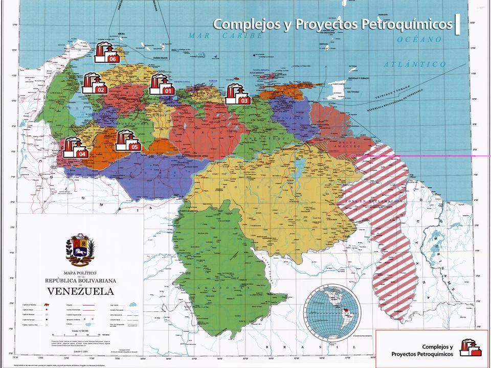 Mapa de venzuela con los complejos