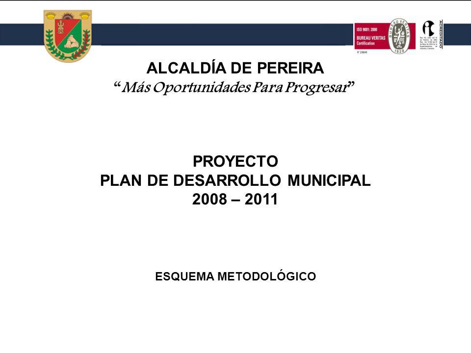 Más Oportunidades Para Progresar PLAN DE DESARROLLO MUNICIPAL