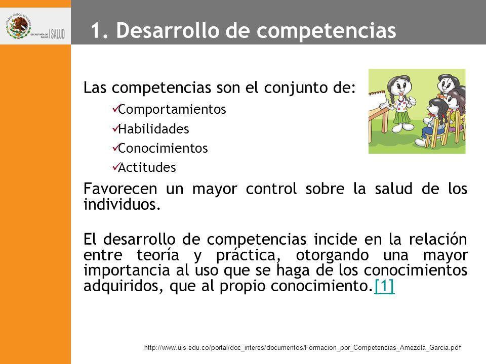 1. Desarrollo de competencias