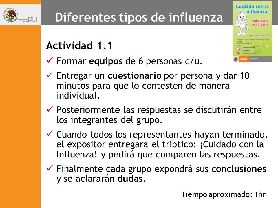 Diferentes tipos de influenza