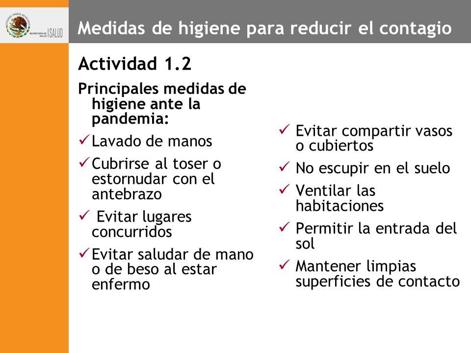 Medidas de higiene para reducir el contagio