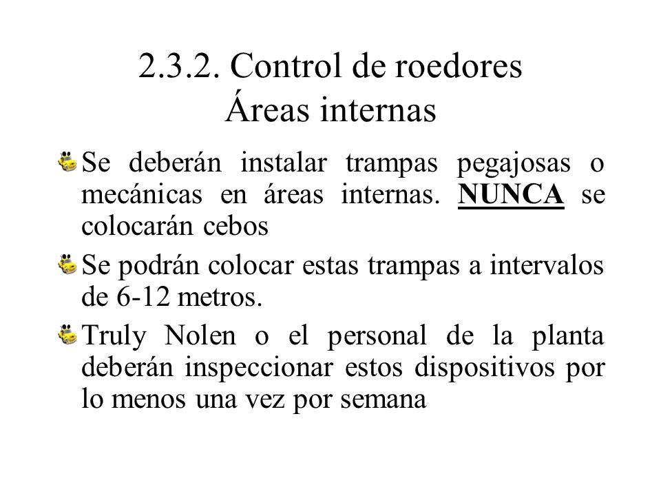 2.3.2. Control de roedores Áreas internas