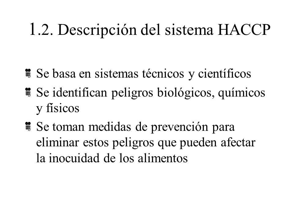 1.2. Descripción del sistema HACCP