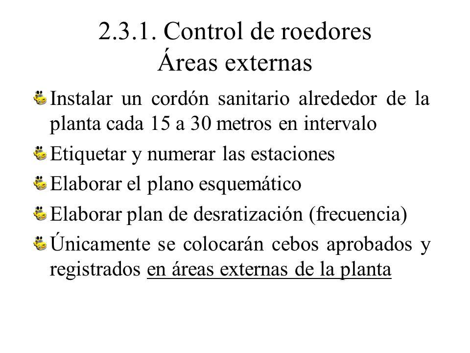 2.3.1. Control de roedores Áreas externas