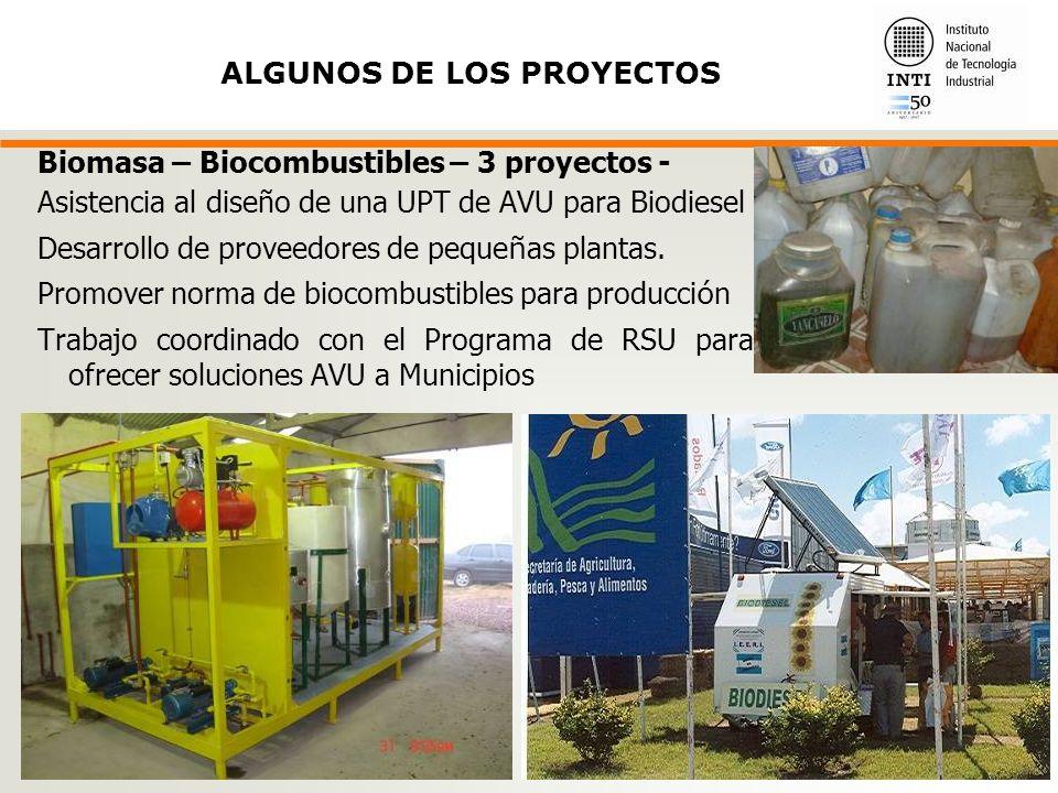 ALGUNOS DE LOS PROYECTOS