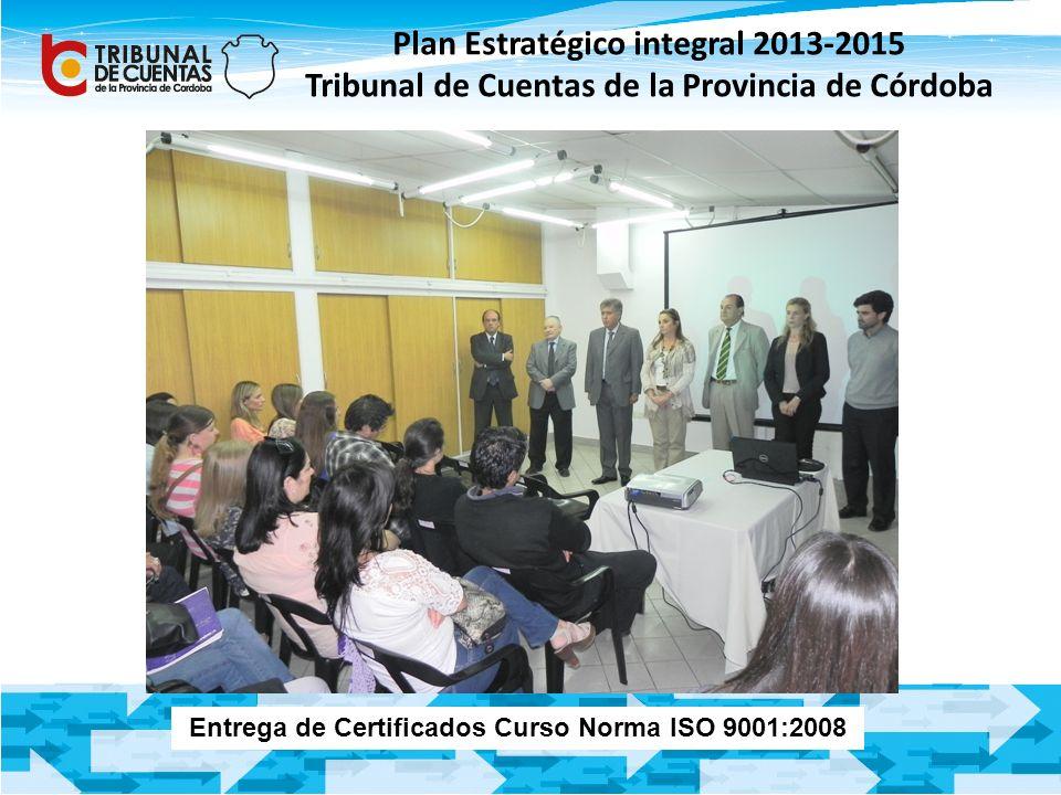 Entrega de Certificados Curso Norma ISO 9001:2008