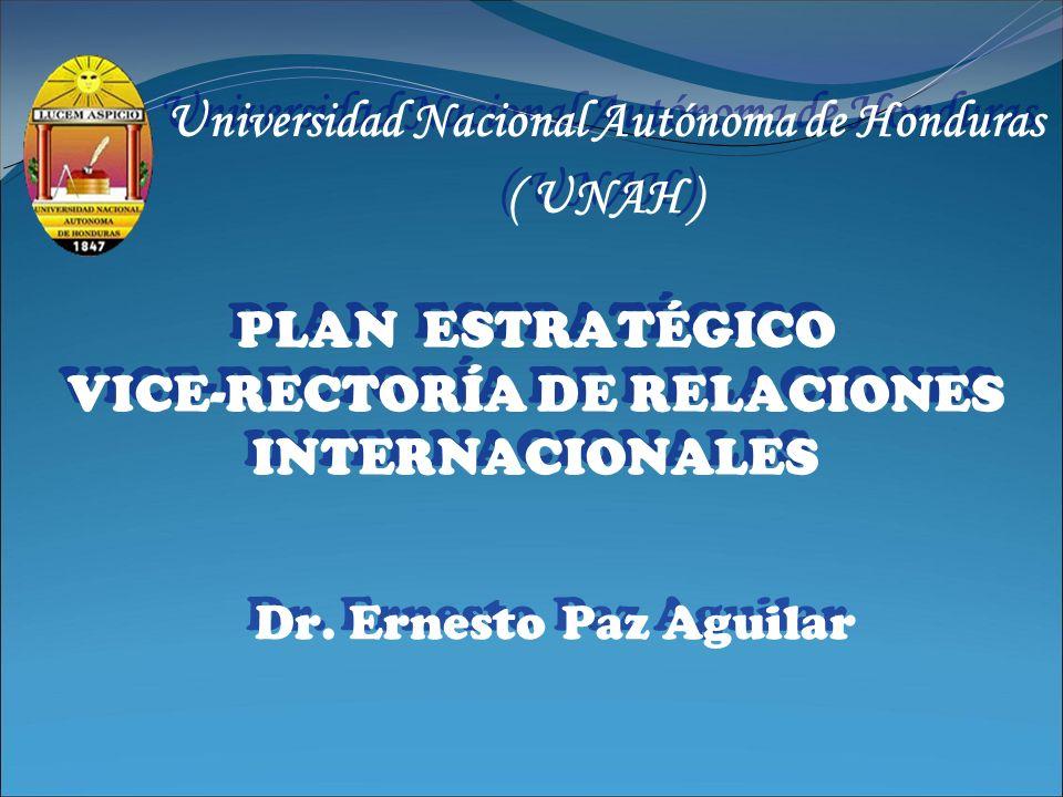 PLAN ESTRATÉGICO VICE-RECTORÍA DE RELACIONES INTERNACIONALES