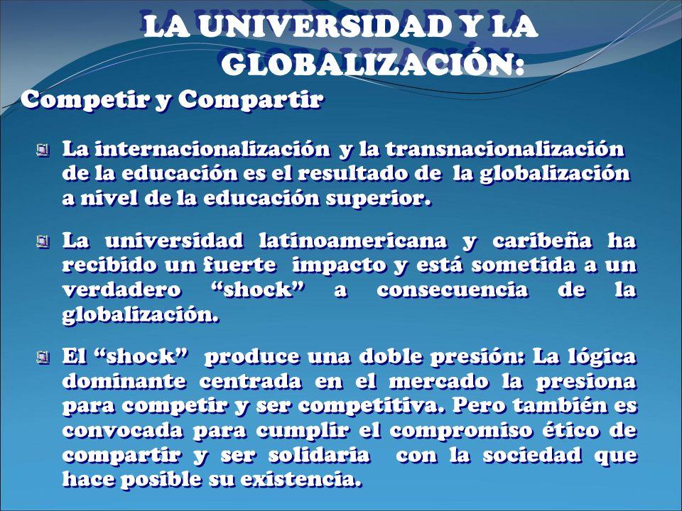 LA UNIVERSIDAD Y LA GLOBALIZACIÓN: