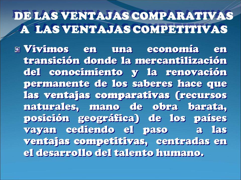 DE LAS VENTAJAS COMPARATIVAS A LAS VENTAJAS COMPETITIVAS