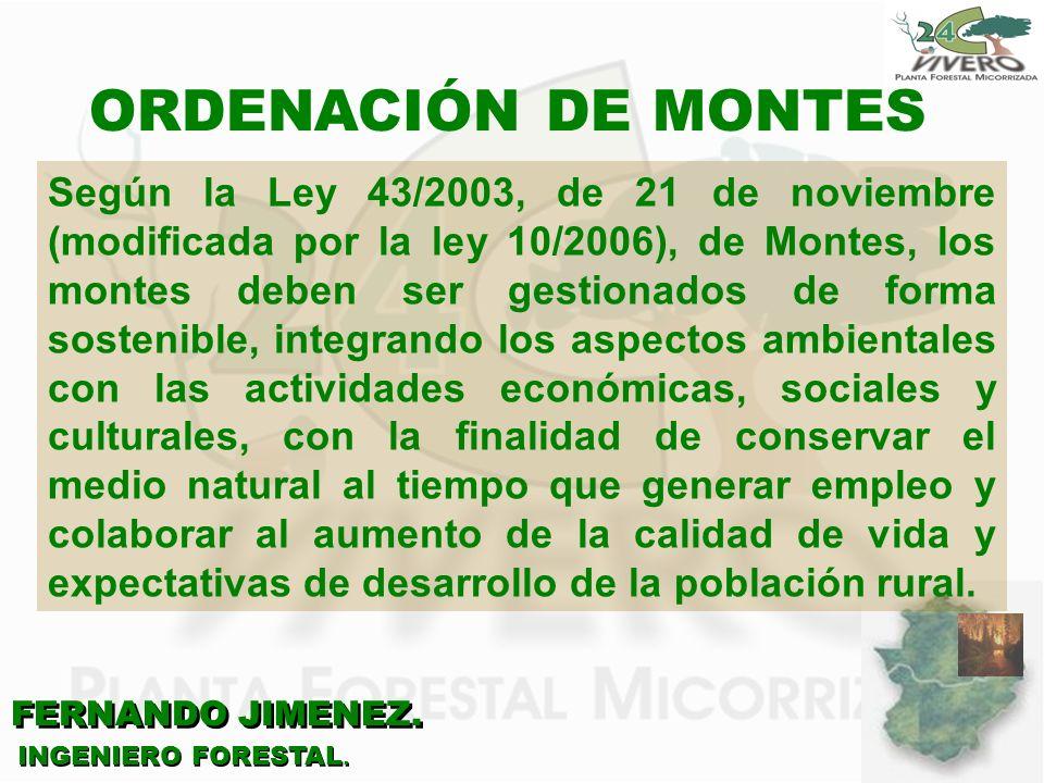 ORDENACIÓN DE MONTES