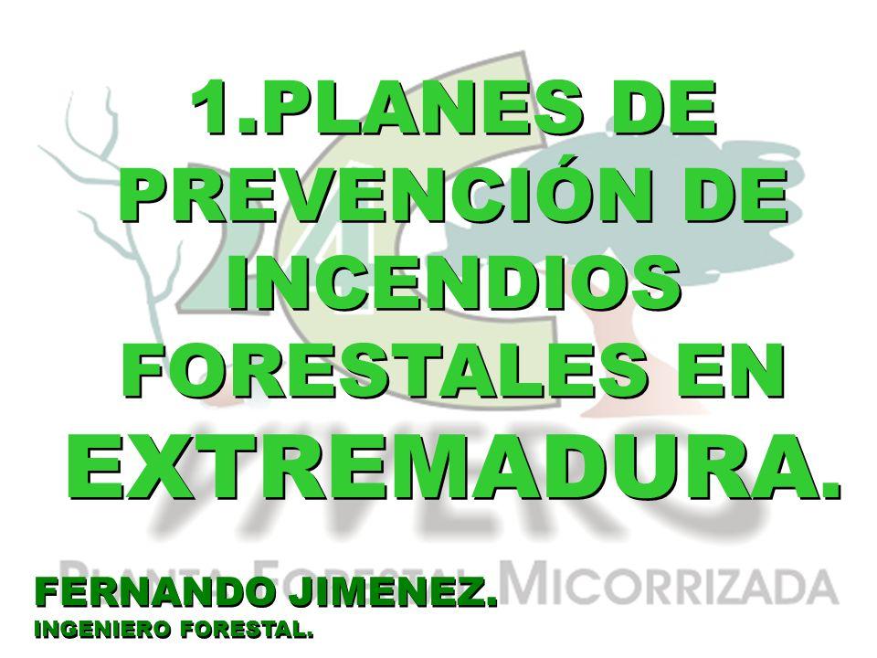 1.PLANES DE PREVENCIÓN DE INCENDIOS FORESTALES EN EXTREMADURA.