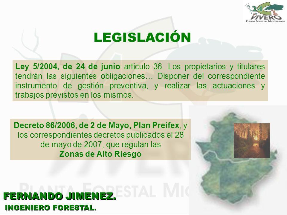 LEGISLACIÓN FERNANDO JIMENEZ.