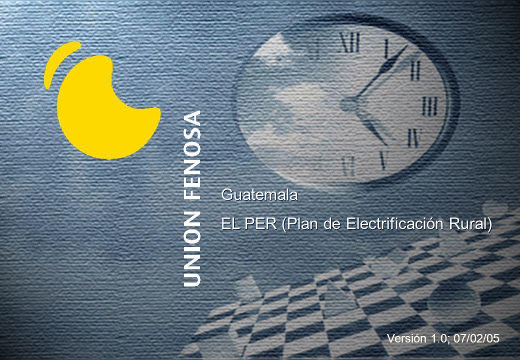 EL PER (Plan de Electrificación Rural)