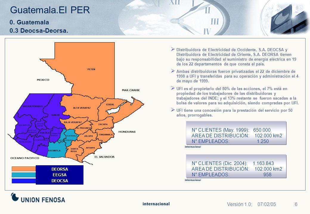 Guatemala.El PER 0. Guatemala 0.3 Deocsa-Deorsa.