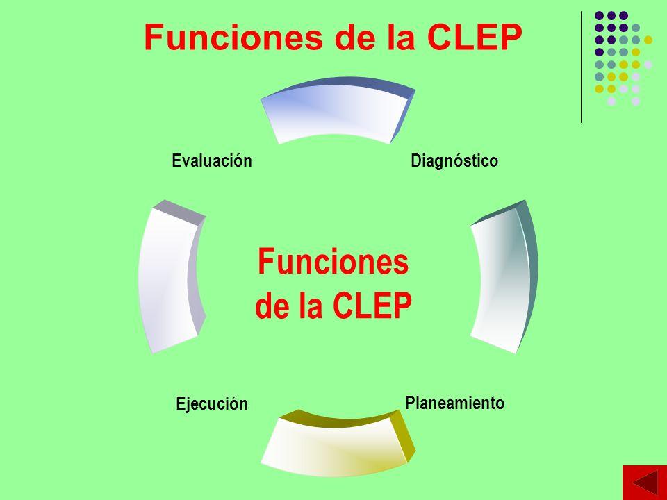 Funciones de la CLEP Funciones de la CLEP