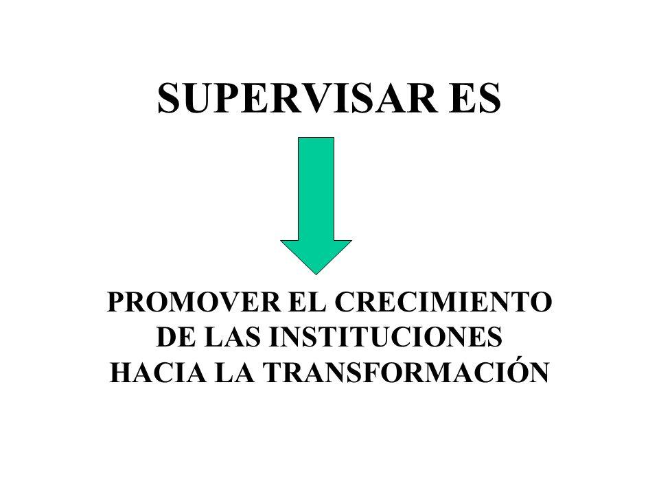 PROMOVER EL CRECIMIENTO DE LAS INSTITUCIONES HACIA LA TRANSFORMACIÓN