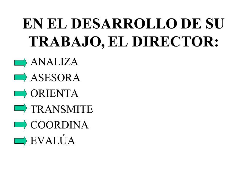 EN EL DESARROLLO DE SU TRABAJO, EL DIRECTOR: