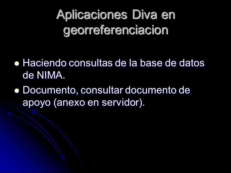 Aplicaciones Diva en georreferenciacion