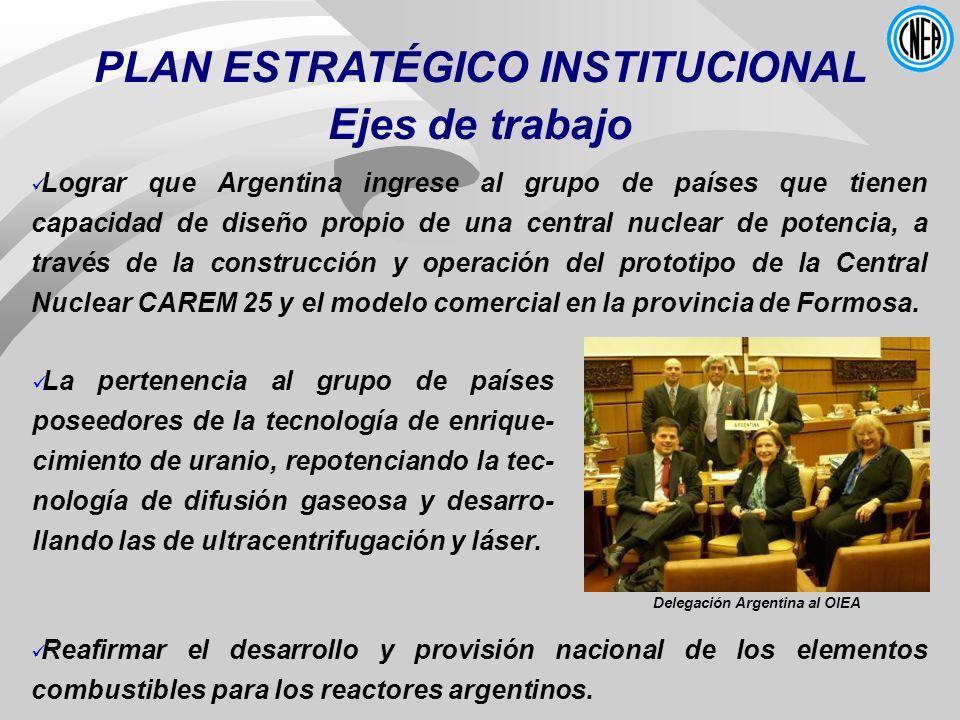 PLAN ESTRATÉGICO INSTITUCIONAL Delegación Argentina al OIEA