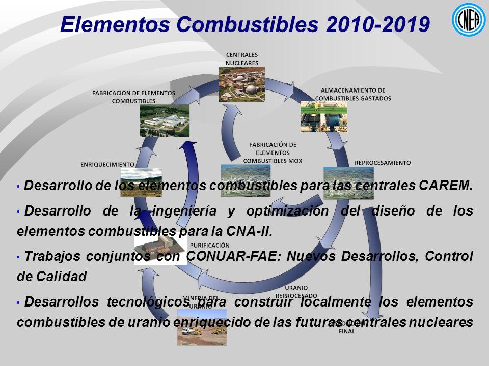 Elementos Combustibles 2010-2019