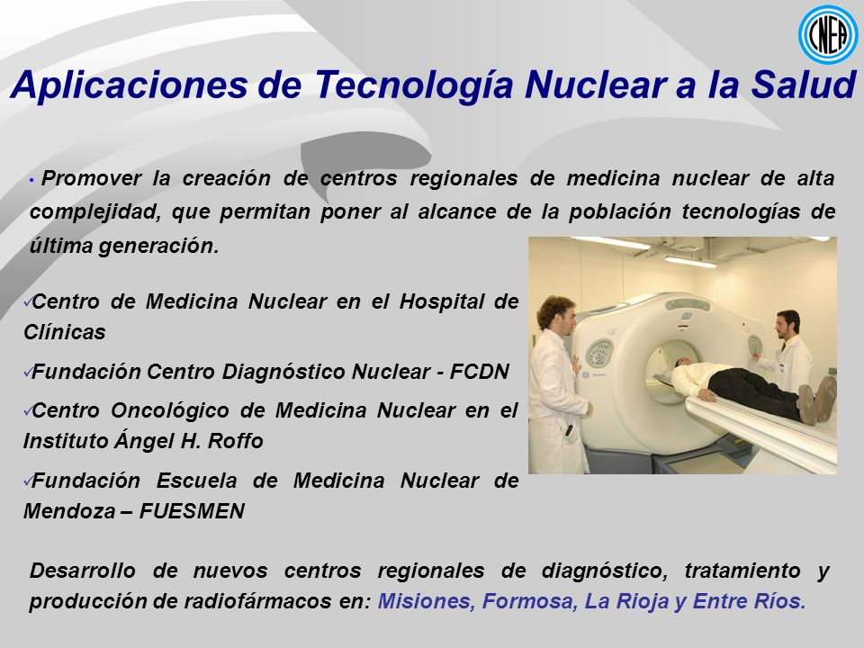 Aplicaciones de Tecnología Nuclear a la Salud