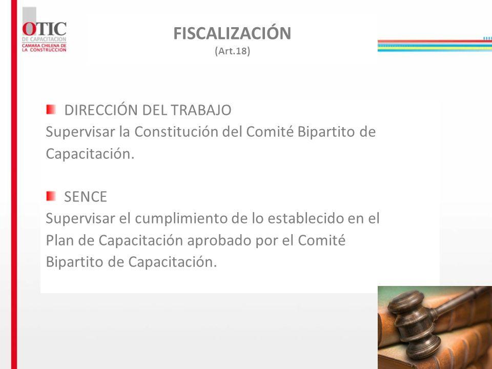 FISCALIZACIÓN (Art.18) DIRECCIÓN DEL TRABAJO