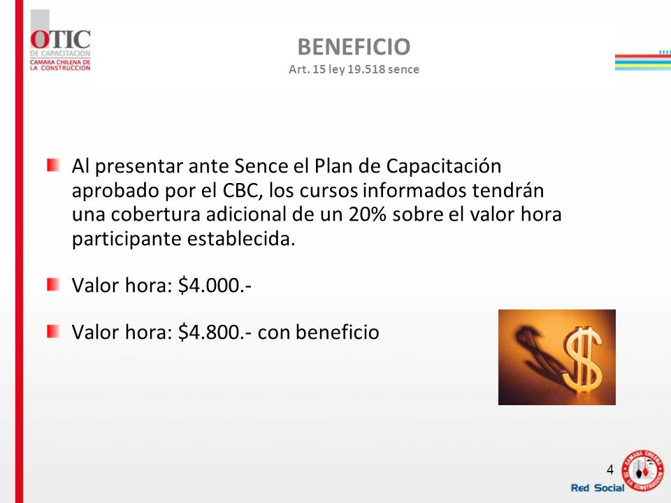 BENEFICIO Art. 15 ley 19.518 sence
