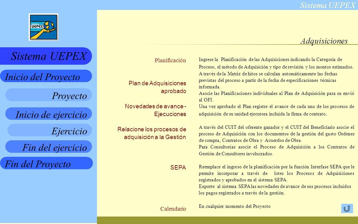 Adquisiciones Planificación Plan de Adquisiciones aprobado