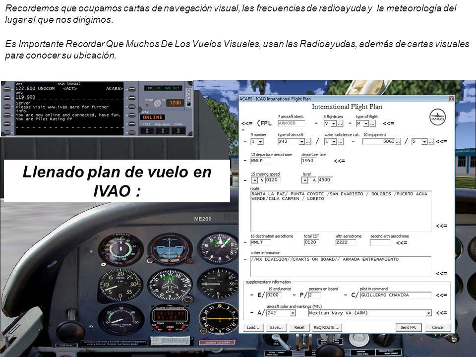 Llenado plan de vuelo en IVAO :