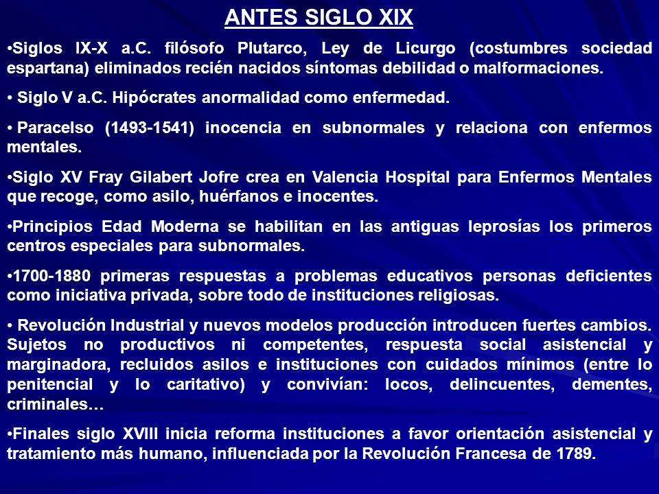 ANTES SIGLO XIX