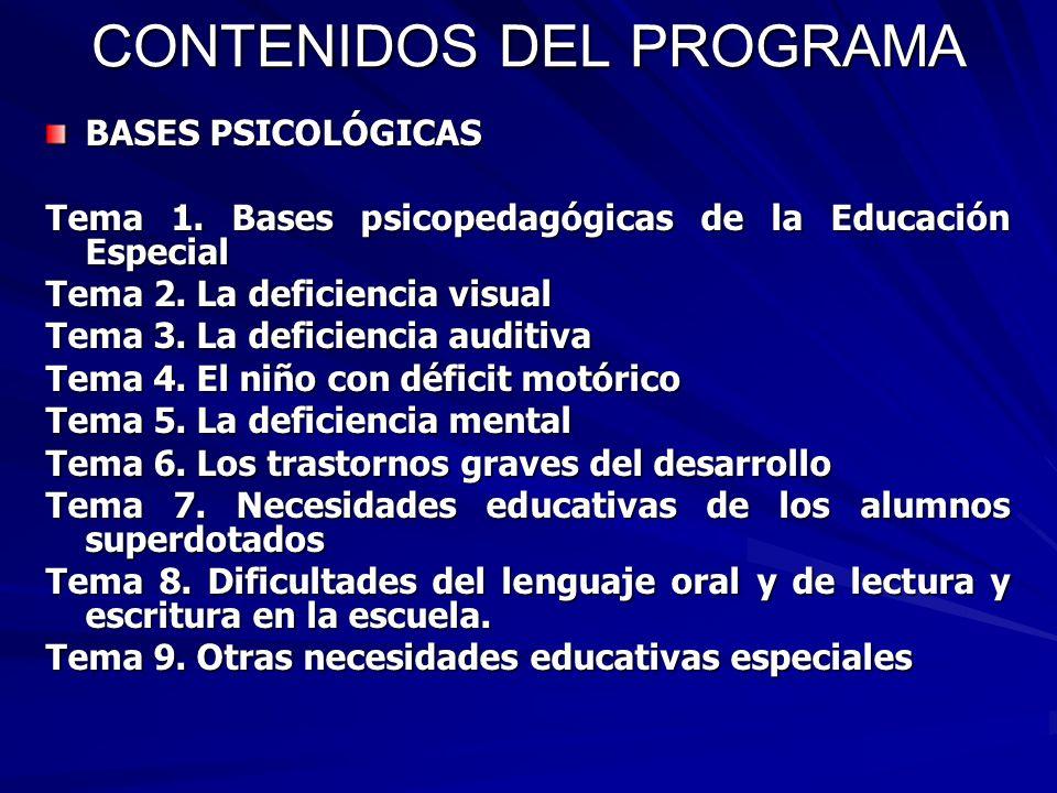 CONTENIDOS DEL PROGRAMA