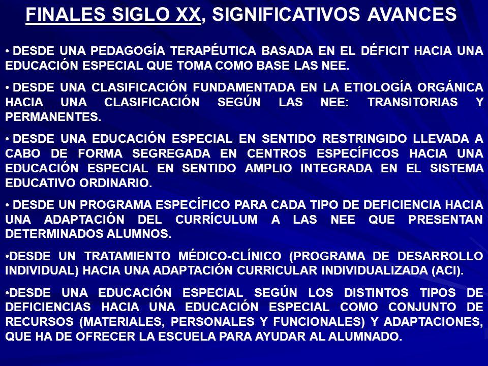 FINALES SIGLO XX, SIGNIFICATIVOS AVANCES