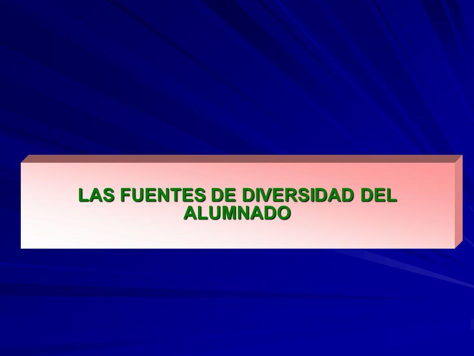 LAS FUENTES DE DIVERSIDAD DEL ALUMNADO