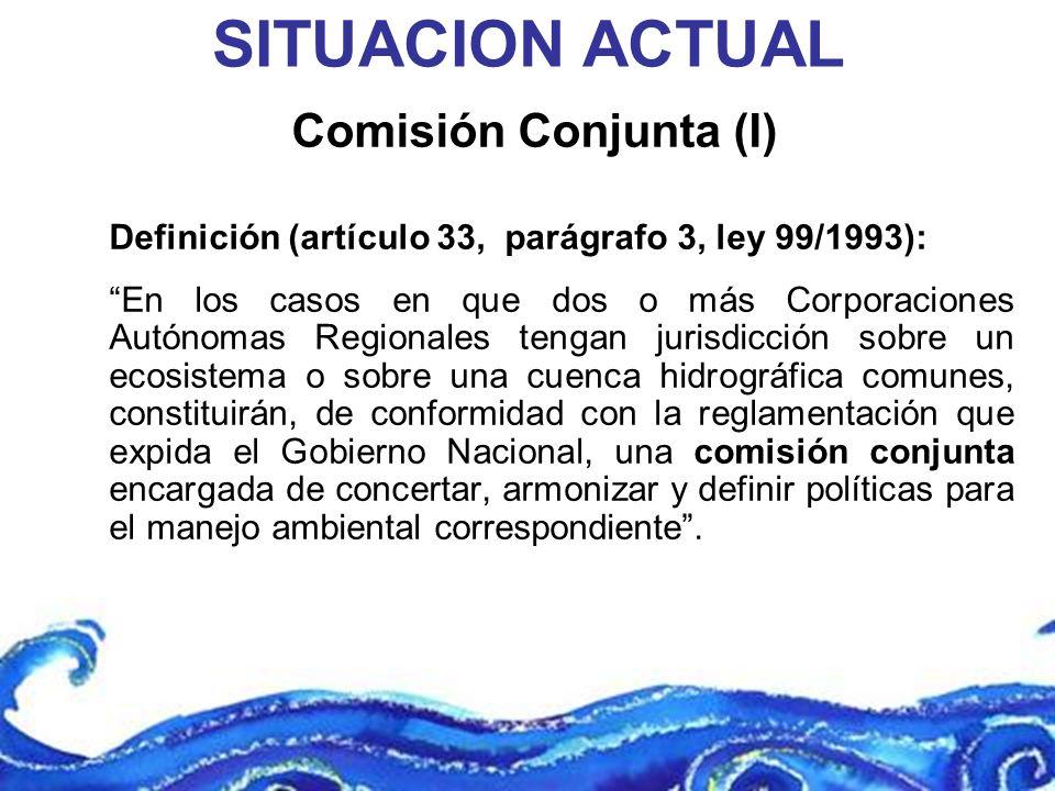 SITUACION ACTUAL Comisión Conjunta (I)