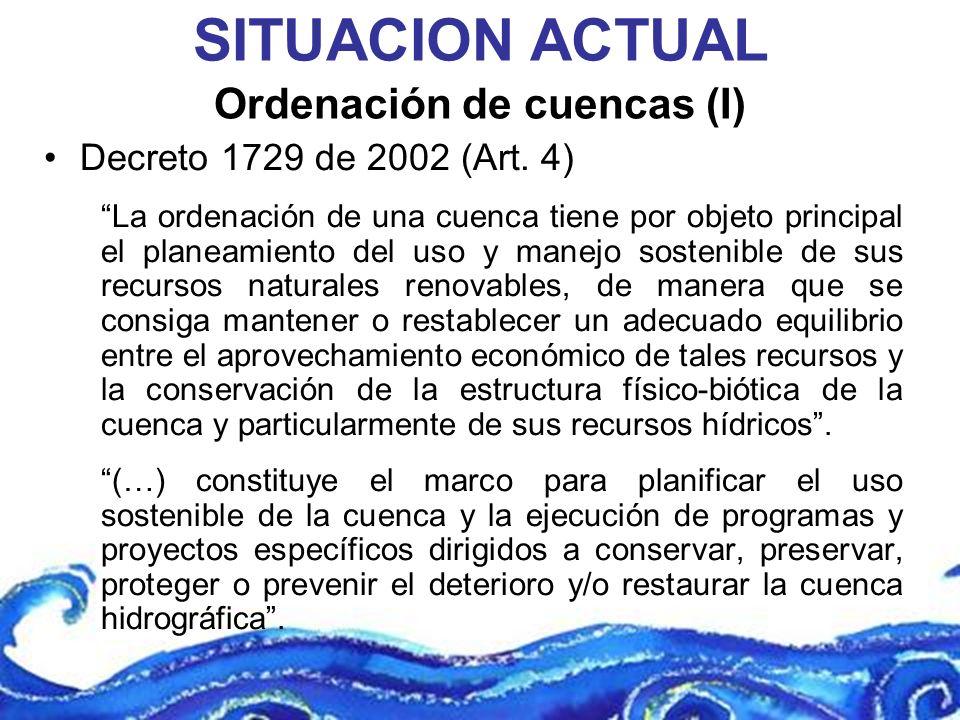 Ordenación de cuencas (I)
