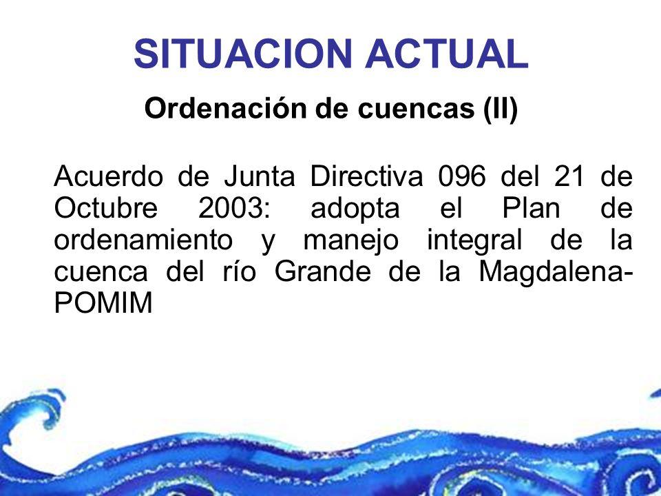 Ordenación de cuencas (II)