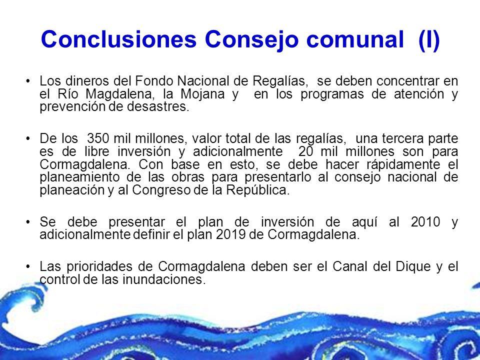 Conclusiones Consejo comunal (I)