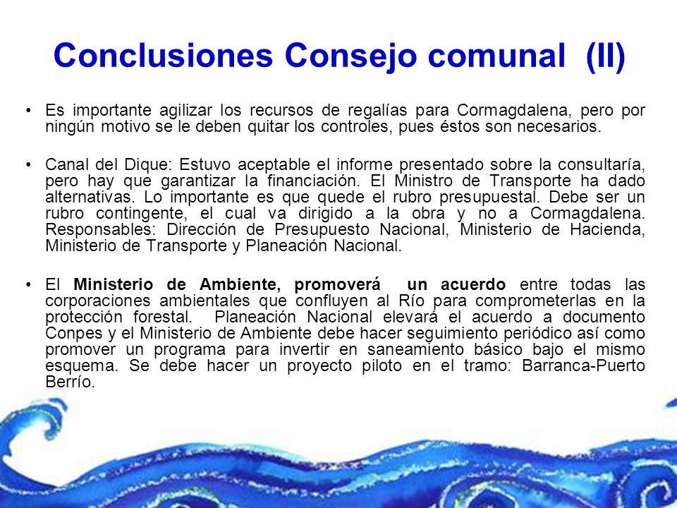 Conclusiones Consejo comunal (II)