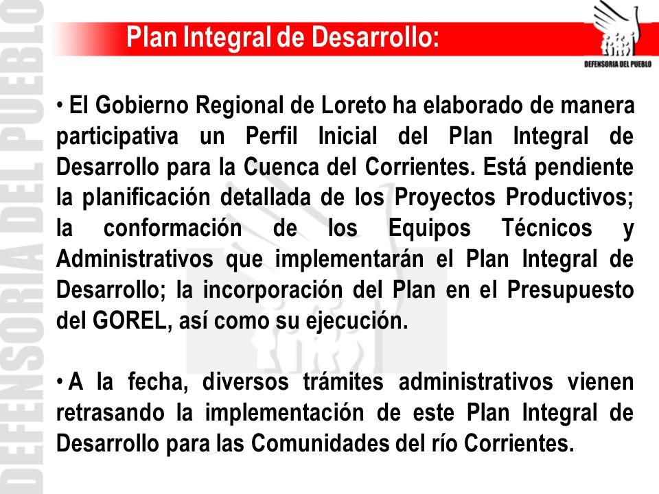 Plan Integral de Desarrollo: