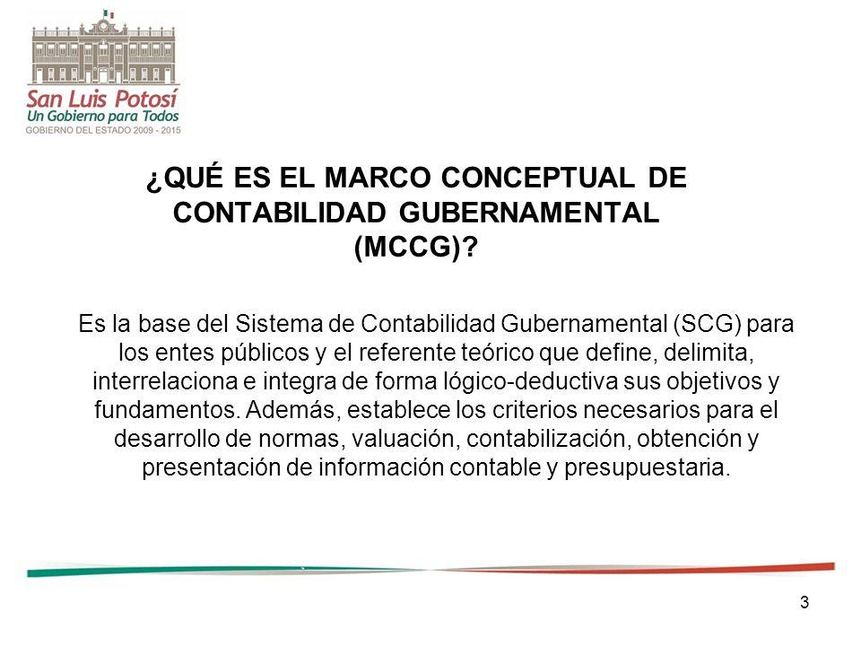 ¿QUÉ ES EL MARCO CONCEPTUAL DE CONTABILIDAD GUBERNAMENTAL (MCCG)
