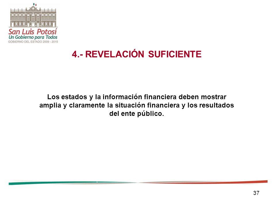 4.- REVELACIÓN SUFICIENTE